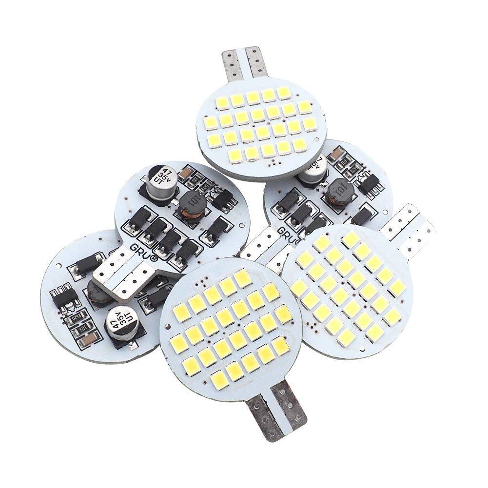Amazon.com: GRV T10 921 194 24-2835 SMD LED Bulb lamp Super Bright AC/DC 12V -28V Cool White(2nd Generation) Pack of 6: Automotive