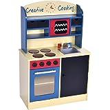 Costzon Wood Kitchen Toy Kids Cooking Pretend Play Set Toddler Wooden Playset Gift Newl
