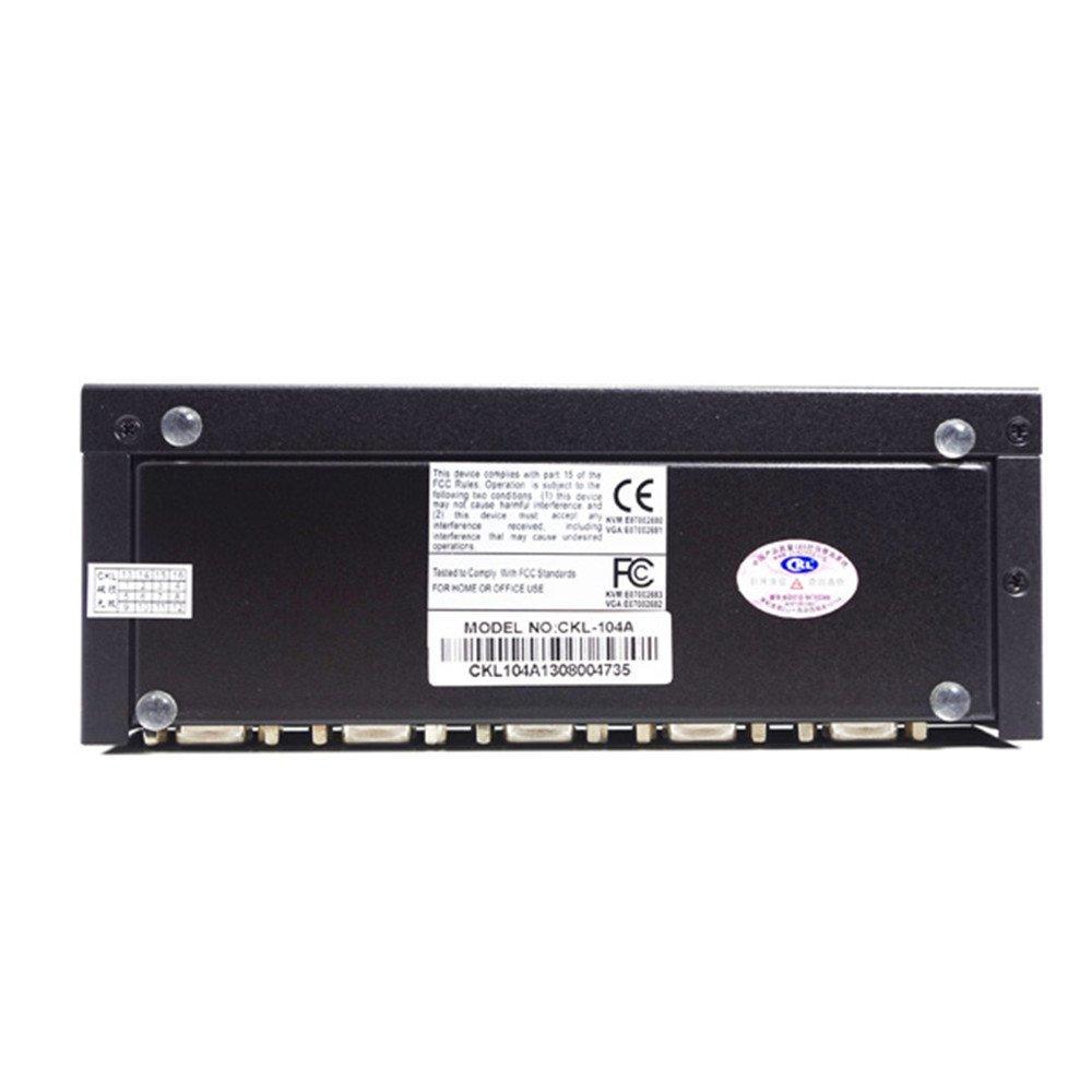 CKL 4 Port VGA Splitter 1x4 Video Distributor 2048x1536 450MHz Metal CKL-104A by CKL (Image #2)
