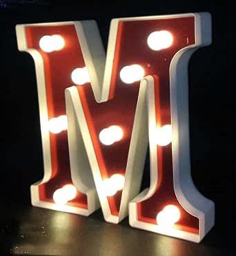 Alphabet LED Light - M Letter