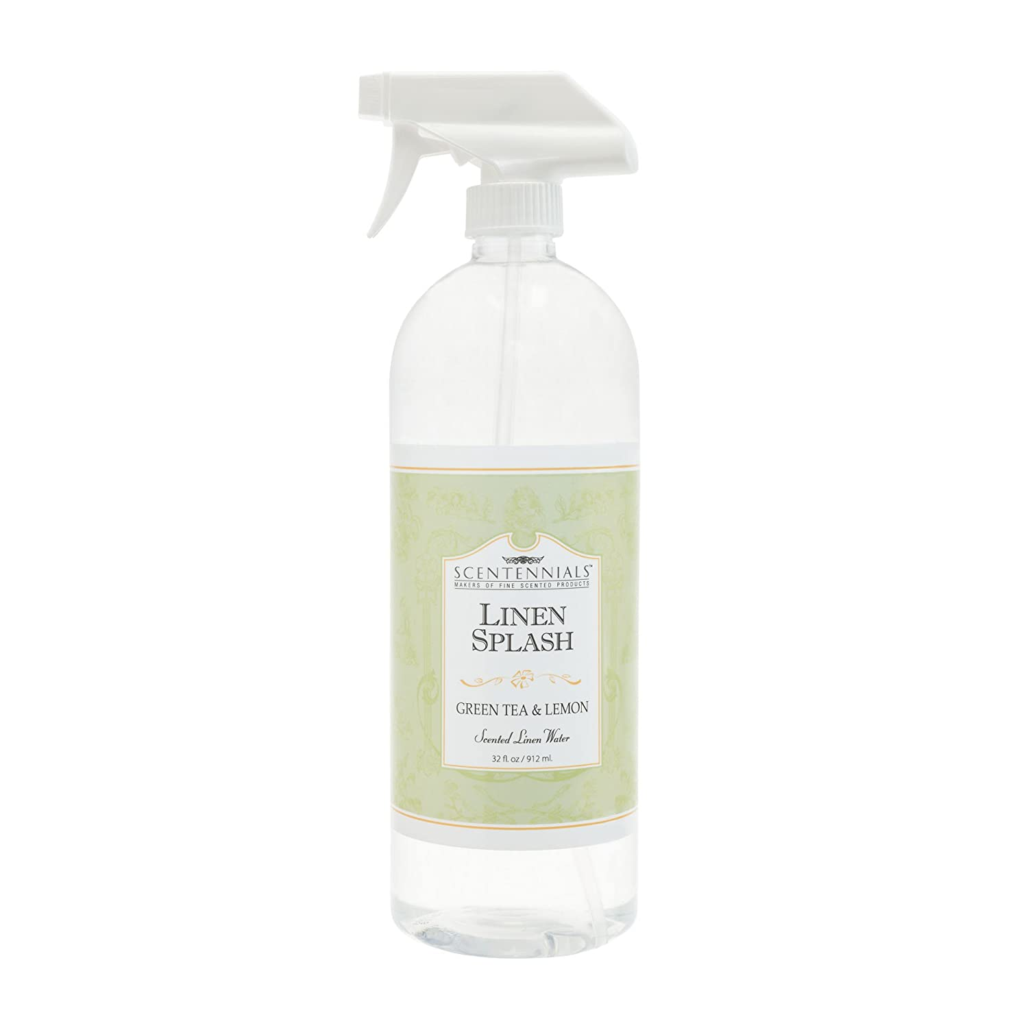 Scentennials Green Tea & Lemon Linen Spray 32oz - A Must Have for All Your linens, Laundry Basket or just Spray Around The House.