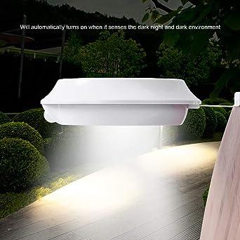 Focos LED Exterior Solares 48LED Ultra Brillante Farolas Solares Exterior con Sensor de Movimiento para Pared, Patio, Jardín, Porche, Camino, Escalera Blanco: Amazon.es: Iluminación