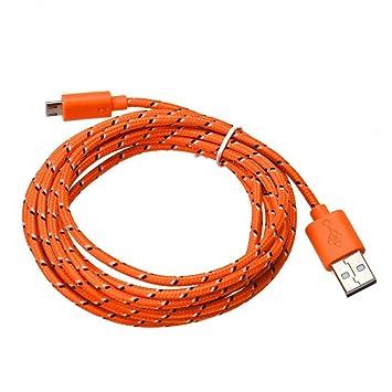 TAOtTAO 3 m/10ft Micro USB Cargador Cable de Carga y ...