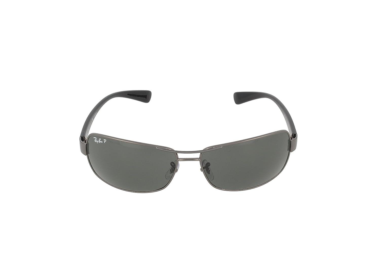 4cfc2513571 Amazon.com  Ray-Ban Men s 0rb3379-01004 58 64rb3379 Polarized Rectangular  Sunglasses