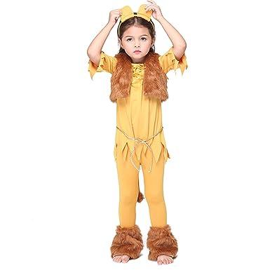 YYF Kinder Löwe Kostüm für Mädchen Halloween Cosplay Partei ...