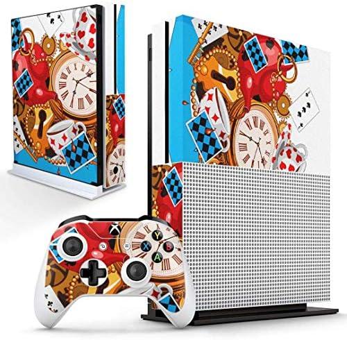 igsticker Xbox One S 専用 スキンシール 正面・天面・底面・コントローラー 全面セット エックスボックス シール 保護 フィルム ステッカー 006790