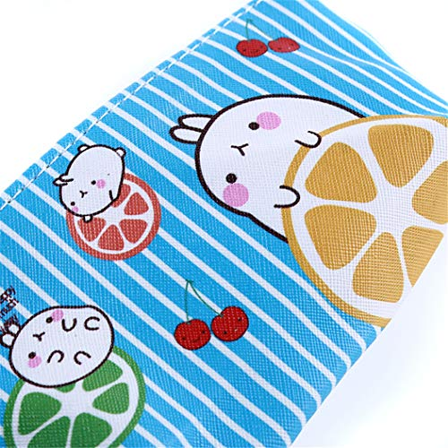 LZIYAN Cartoon Rabbit Pencil Case Cute Stationery Storage Bag Waterproof Cosmetic Bag School Supplies For Students,Blue by LZIYAN (Image #1)