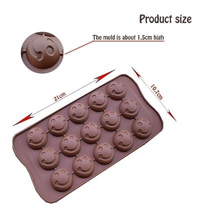 STRIR 15 Tazas 3D Molde de Magdalena de Silicona para Galletas Pan de Mollete Jalea Pudín Molde de Hielo Grande de Jabón Hecho a Mano Herramientas de DIY ...