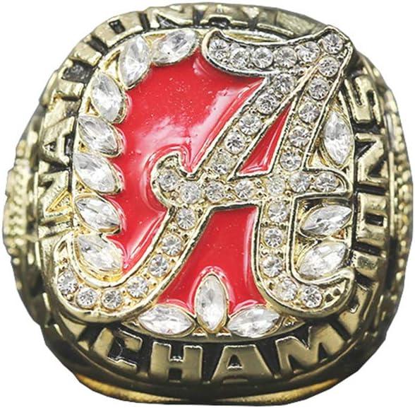 TYTY 2009 NCAA Alabama Championship Ring Anillos de Hombre, Championship Anillo de réplica Personalizado Anillos de Diamantes para Hombres,with Box,11#