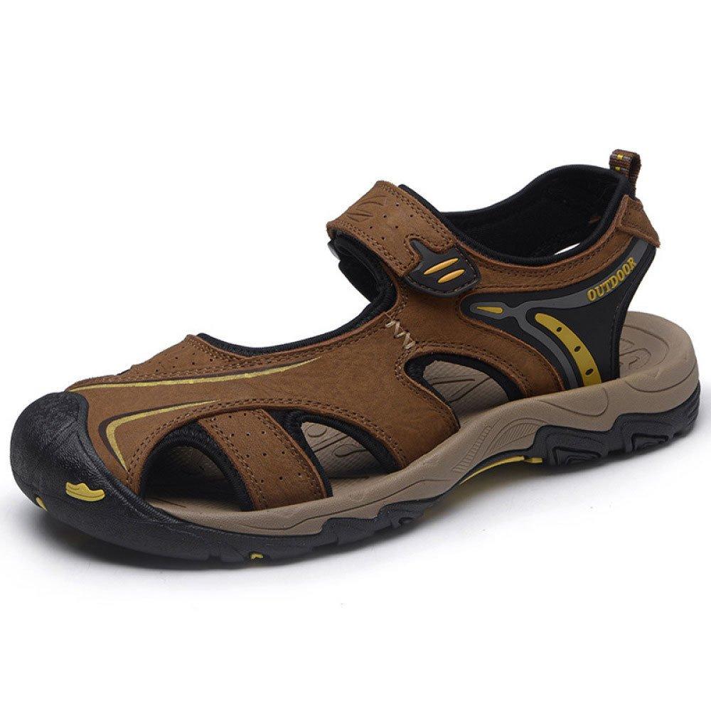 Sandalias De Los Hombres De Verano Casual Transpirable Antideslizante Zapatos De Playa Baotou Al Aire Libre 41 EU|Brown