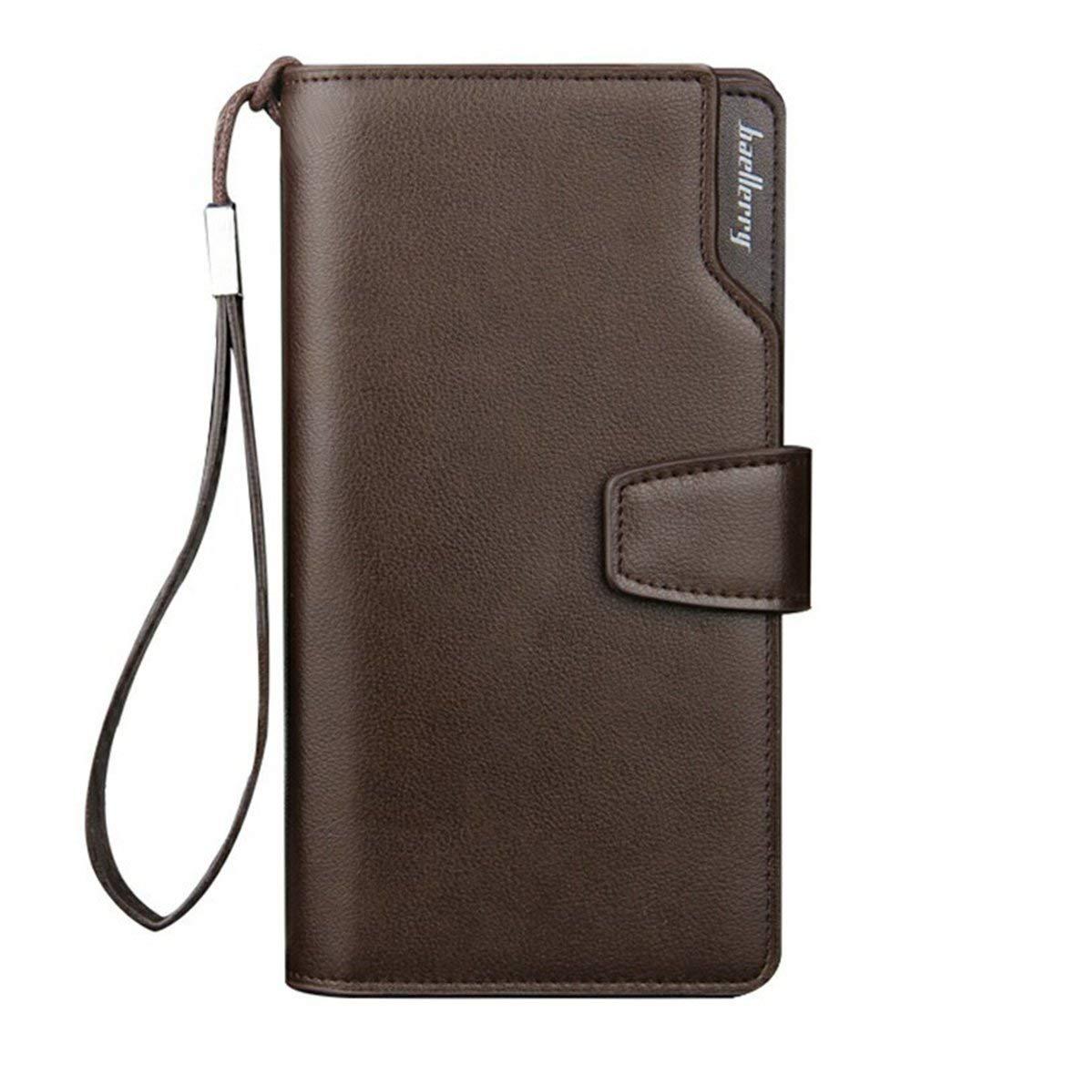 Heaviesk Hommes Longue Portefeuille Souple En Cuir PU Sac Commercial Conception Zipper Money Purse Portefeuilles Titulaires de la carte de crédit