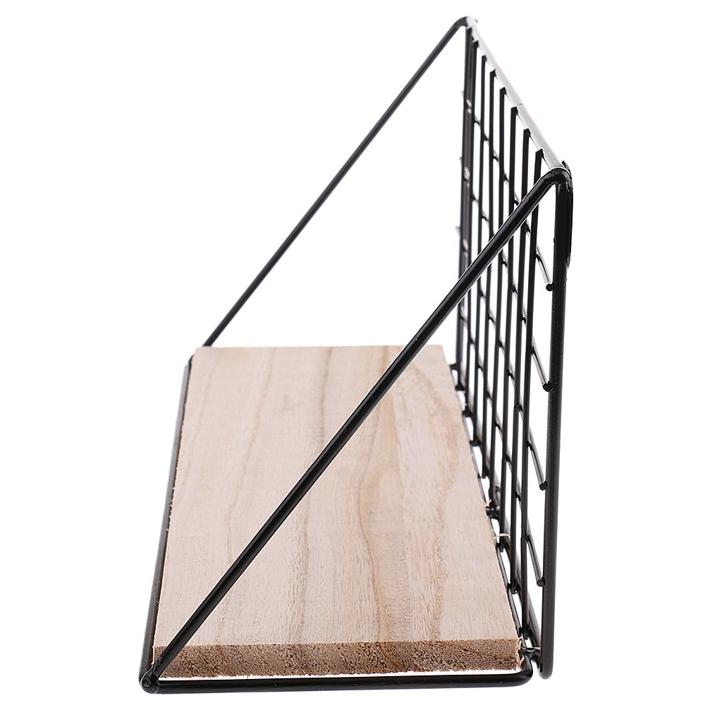 Sharplace Wandregal K/üchenregal Holz Metall Regal Gew/ürzregal Gew/ürzboard CD Regal