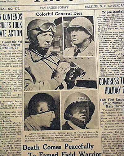 Amazon com: GEN  GEORGE S  PATTON Automobile Accident or