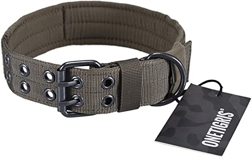 OneTigris-Military-Adjustable-Dog-Collar-with-Metal-D-Ring-&-Buckle-2-Sizes