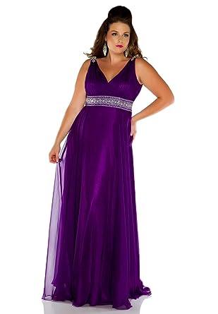 3d76a06ce Amazon.com: Fabulouss by Mac Duggal Plus Size Prom Dress 2018F (14W ...