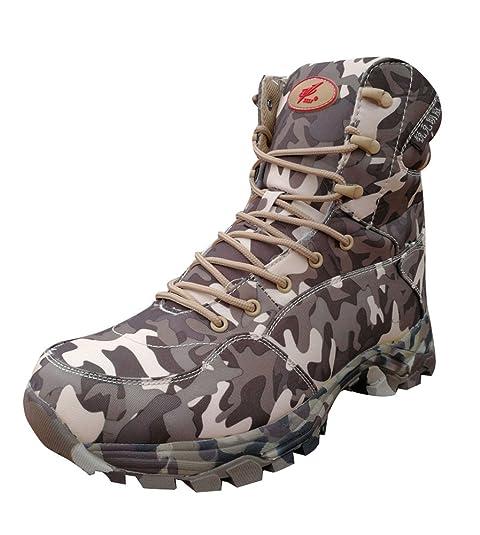 Minetom Camuflaje Deporte Zapatos Para Hombre Botas Senderismo Impermeables Aire Libre Zapatillas Senderismo Cordones Trainer Botas Verde EU 39: Amazon.es: ...
