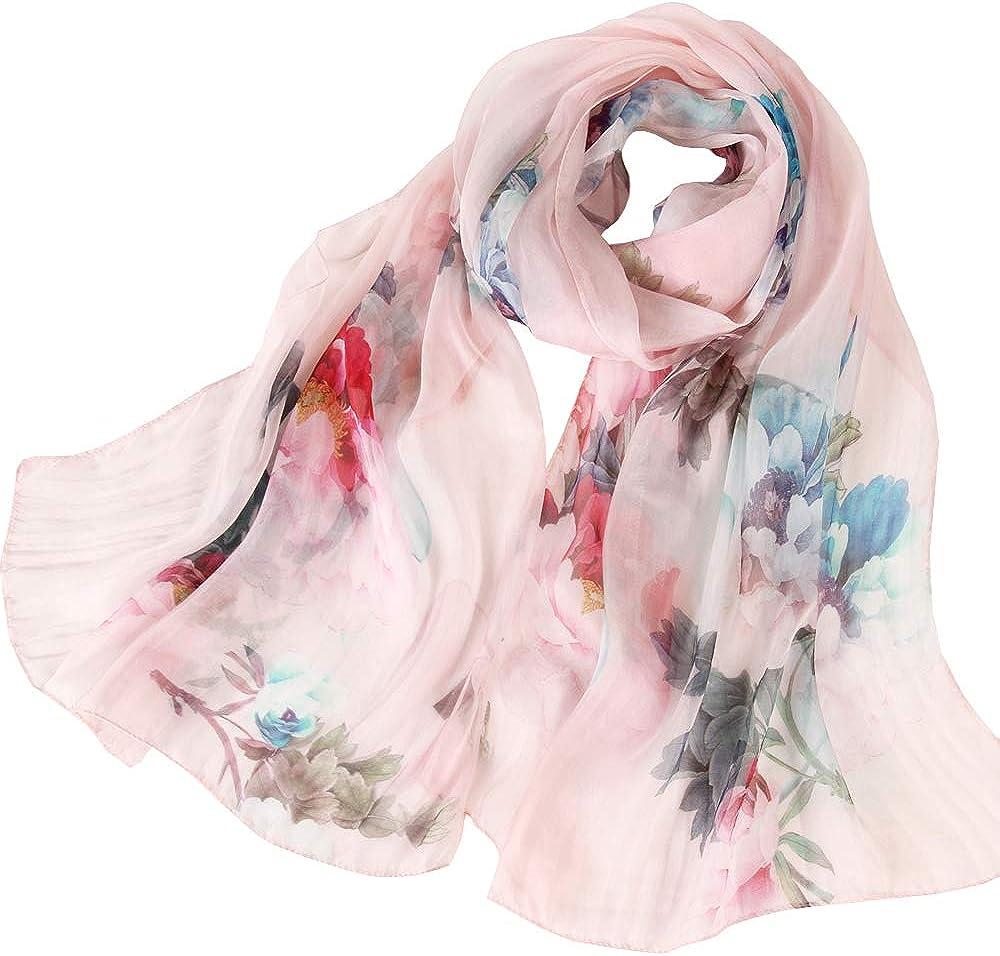 LD pañuelo seda Mujer Cuello Bufanda Mantón Elegante Regalo de Mujer(Múltiples tamaños colores)