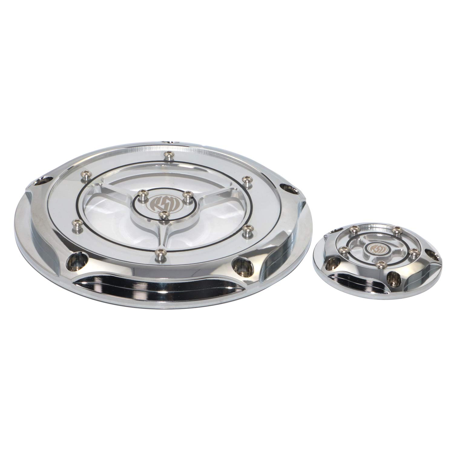 Chrome Clear Derdy Timing Timer Cover for Harley Motorcycle Models Road King Street Glide Dyna Softail