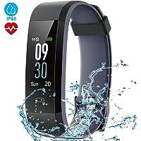 HOMSCAM Fitness Tracker Schermo a Colori Orologio Fitness Braccialetto Cardiofrequenzimetro da Polso Smartwatch Pedometro Impermeabile IP68 Donna Uomo Bambini Smart Watch per Android iOS Smartphone