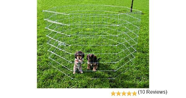 Trixie Cerramiento Cachorros galvaniz, 8 Paneles 61x91 cm: Amazon.es: Productos para mascotas