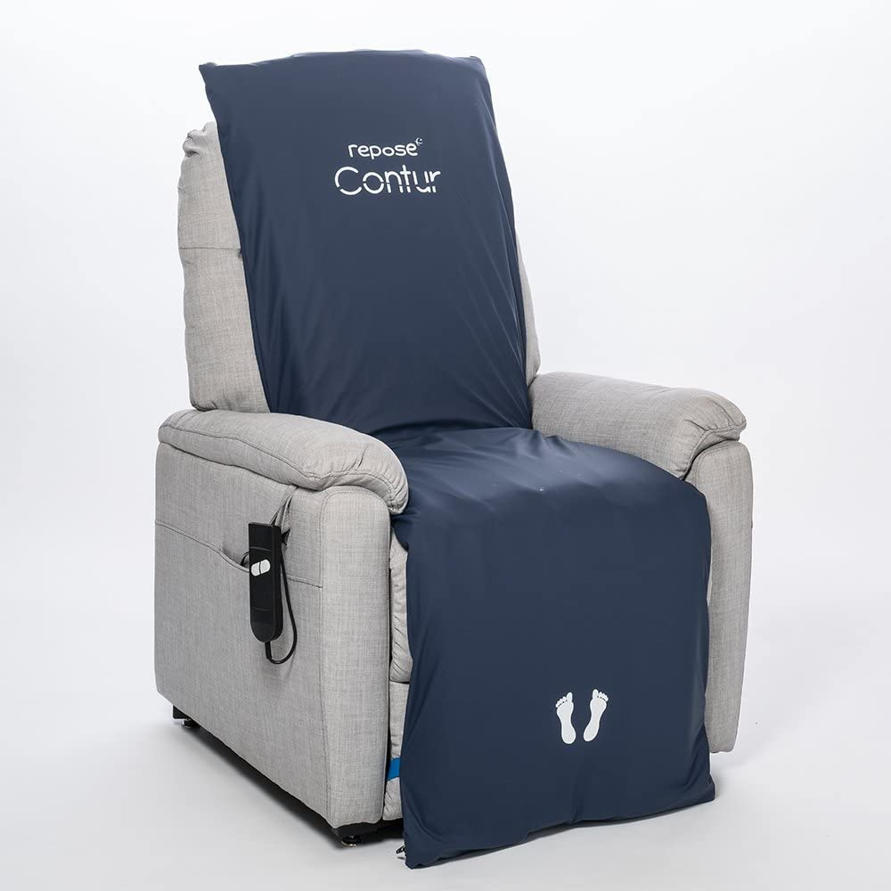 Premium Pressure Relieving Contur Cushion Overlay for Riser Recliner Chair with Pump Pressure UlcerBedsore Prevention and Treatment by Repose