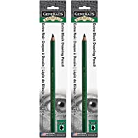2-Pack - General 5259XXB Kimberly Graphite Extra Extra Soft Drawing Pencil, 9XXB