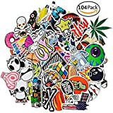 PC Hardware : Car Stickers [104 pcs] , SHENGDELONG Laptop Stickers Waterproof Vinyl Stickers 3D Stereo Feeling Motorcycle Bicycle Luggage Decal Graffiti Patches Skateboard Stickers for Laptop -Random Sticker Pack