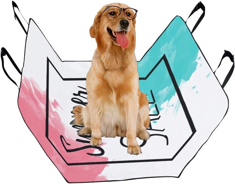 VNASKL Dog Seat Cover Custom Inscription Summer Sale Black Thin Frame Printing Car Seat Covers for Dogs 100/% Waterproof Nonslip Durable Soft Pet Car Seat Dog Car Hammock for Cars Trucks SUV