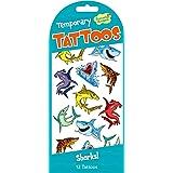 Peaceable Kingdom Sharks Temporary Tattoos