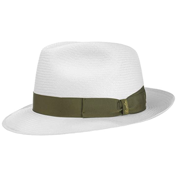 4667b363 Borsalino Green Trim Small Panama Hat Fedora: Amazon.co.uk: Clothing