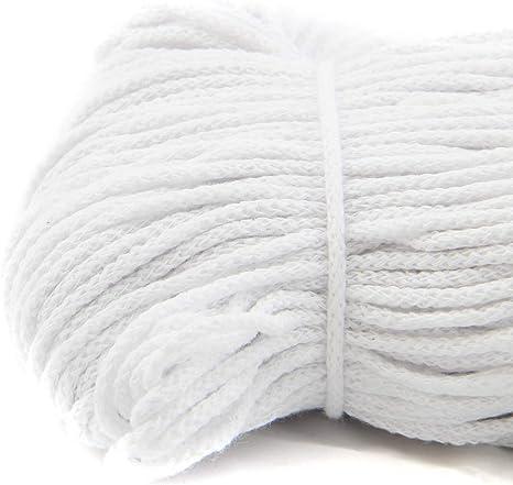 NTS N/ähtechnik 100m Baumwollkordel Aqua, 4 4mm breites Seil aus Baumwolle mit Polyester Kern//Deko Schnur
