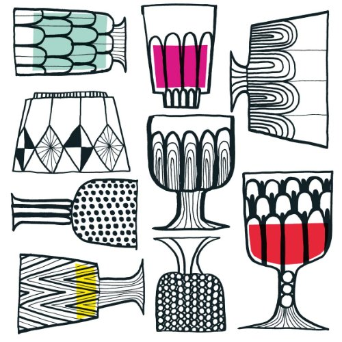 Ideal Home Range 40 Count 3-Ply Paper Cocktail Napkins, Marimekko Collection (Kippis) by Ideal Home Range