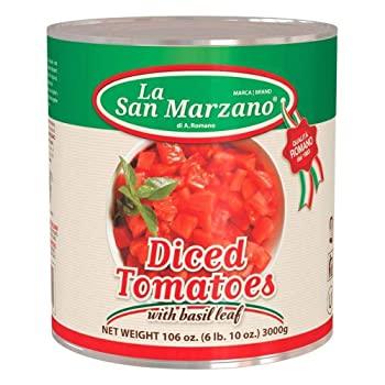 La San Marzano Diced Tomatoes with Basil Leaf