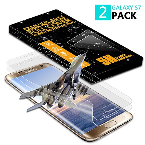 Galaxy S7 Screen Protector [2 Pack][Case Friendly][Not Glass], Vinpie Full Coverage HD Anti-Bubble Screen Protector for Samsung Galaxy S7 (Galaxy S7)