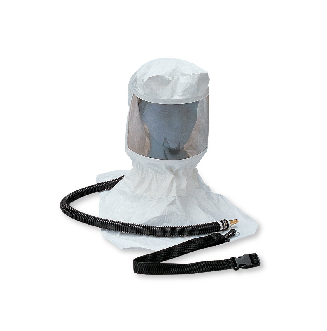 Allegro Industries 9910 Tyvek Hood CF SAR Assembly, Includes OBAC Fitting, Belt, Clip and Suspension, Standard