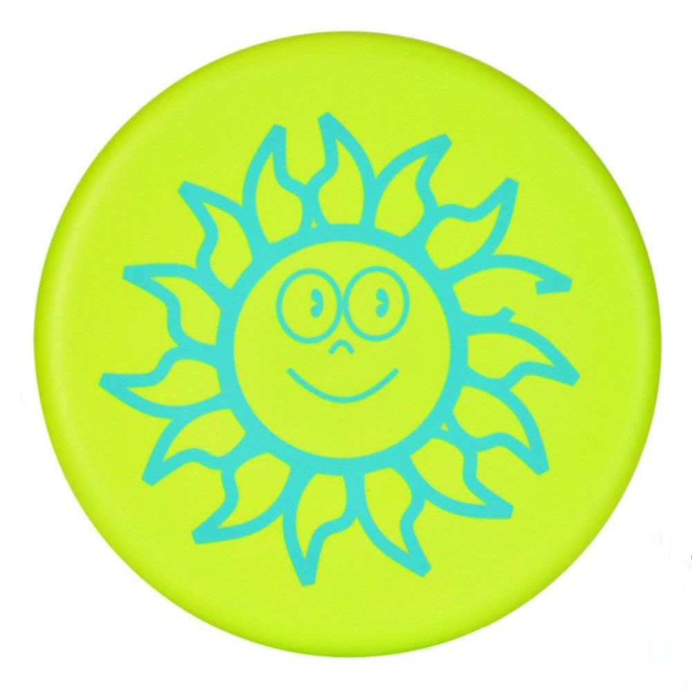 Yunpo Soft Flying Sports Disc With Cartoon Patterns For Adult Kids Outdoor Beach Garden Patio Game Leisure(Green)