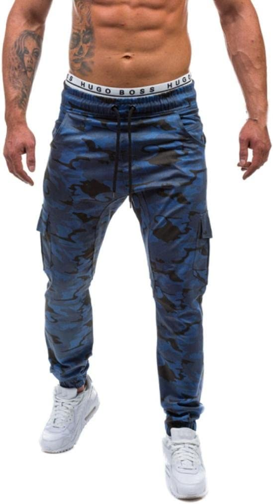 LuckyGirls Pantalones Casuales Hombres Chandal Camuflaje ...