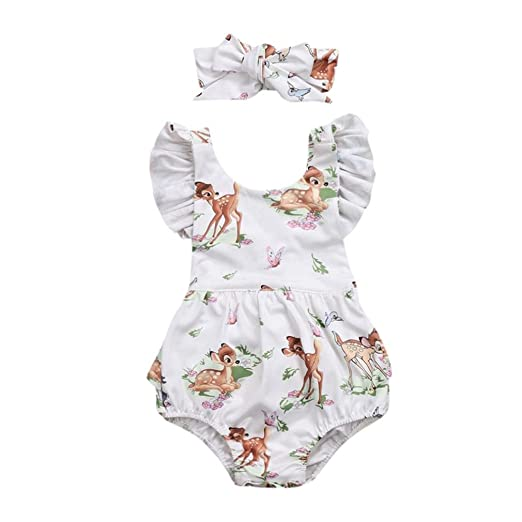 b16c9c706af Infant Baby Girls Boys Summer Outfits Clothes Cuekondy 4th Of July 2018  Star Romper+Headband