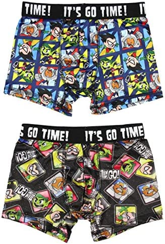 BioWorld Merchandising Boys Teen Titans 3 Pack Performance Boxer Briefs
