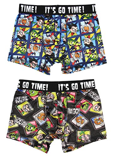 Teen Titans Go! Characters 2 Pack Boys Boxer Briefs Underwear Small