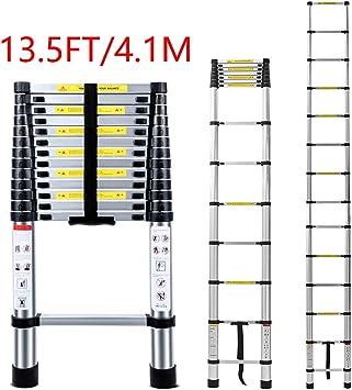 Escalera telescópica ligera Jason 2,6/2,9/3,2/3,8/4,1/4,4 metros de aluminio escaleras telescópicas de extensión para el hogar, al aire libre y negocios, etc. [Paso A +++]: Amazon.es: Bricolaje y herramientas