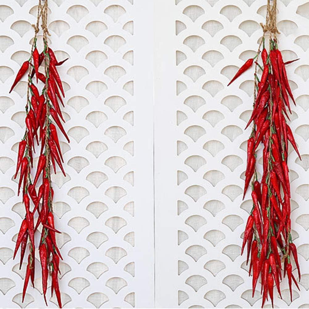 No/ël Cuisine Cozyhoma Guirlande de Faux poivrons artificiels pour d/écoration Murale de Maison