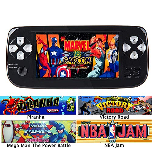 (Handheld Game Console, Classic Game Case, Pocket Game Console 3000 Games - Support for Downloading Multi Format Games for Classic Game Fans)