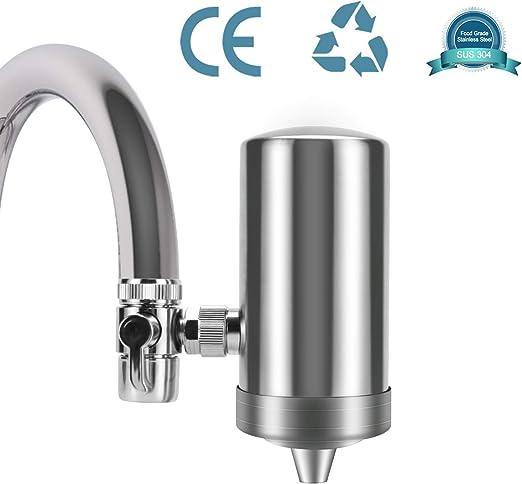YJHome Filtro de Agua para Grifo | Filtros para Grifo de Ahorro de Acero Inoxidable 304, Sistema de filtración de Agua Saludable y de Calidad Accesorios de Cocina filtrado de grifos: Amazon.es: