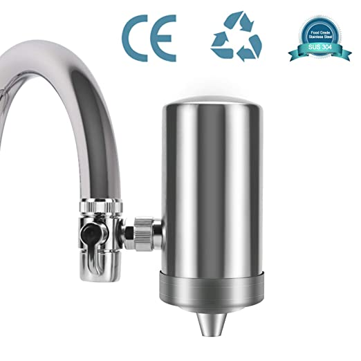 YJHome Filtro de Agua para Grifo | Filtros para Grifo de Ahorro de Acero Inoxidable 304, Sistema de filtración de Agua Saludable y de Calidad ...
