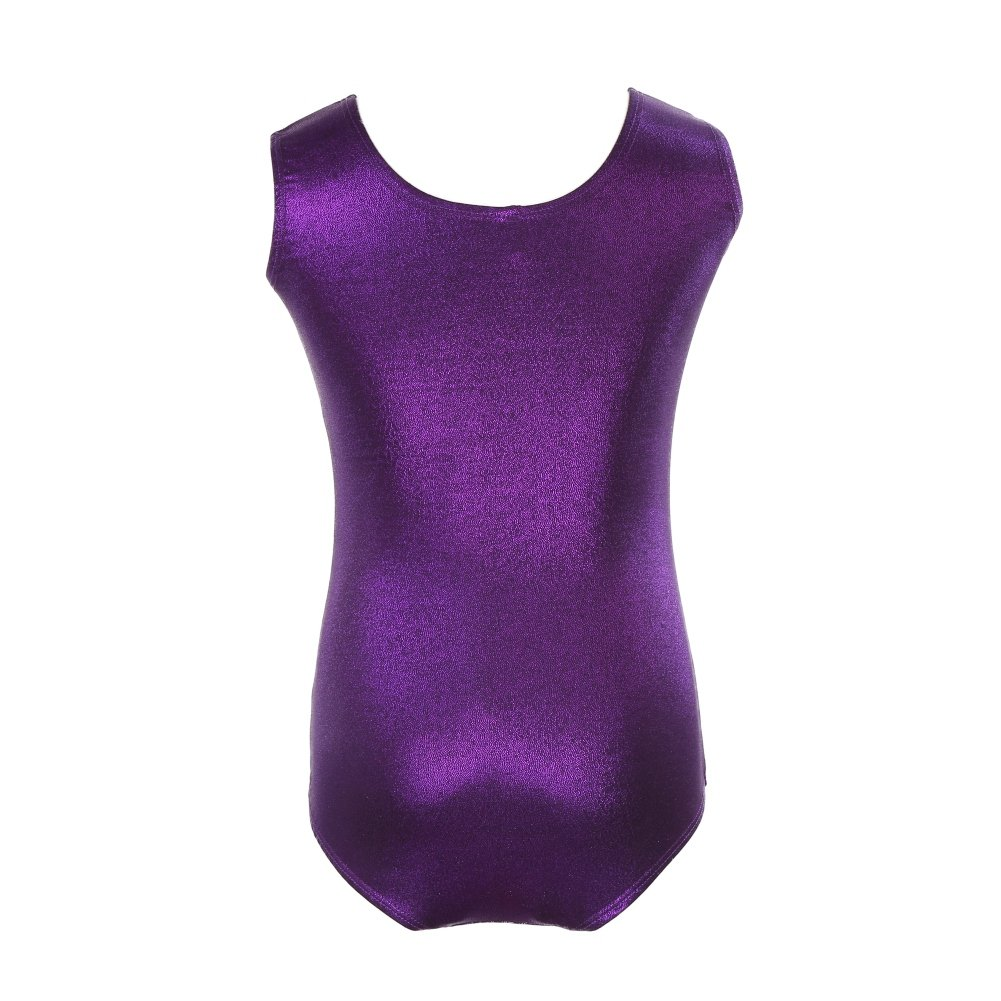 Moresave Kids Girls Gymnastics Athletic Leotard One-Piece Ballet Dancewear Shining Bodysuit
