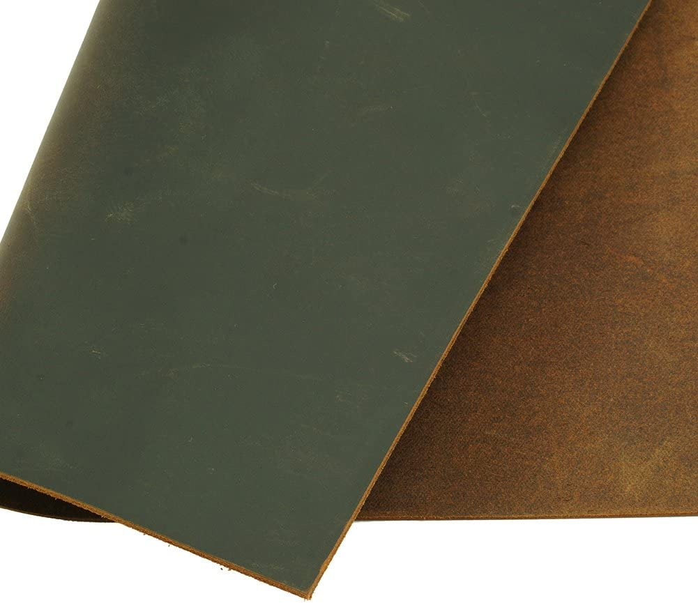 Vintage Discoloration Genuine Leather Fabric Sheets for Craft DIY Wallet Bag Notebook Coffee 12/×12 Thickness 1.8-2.0mm