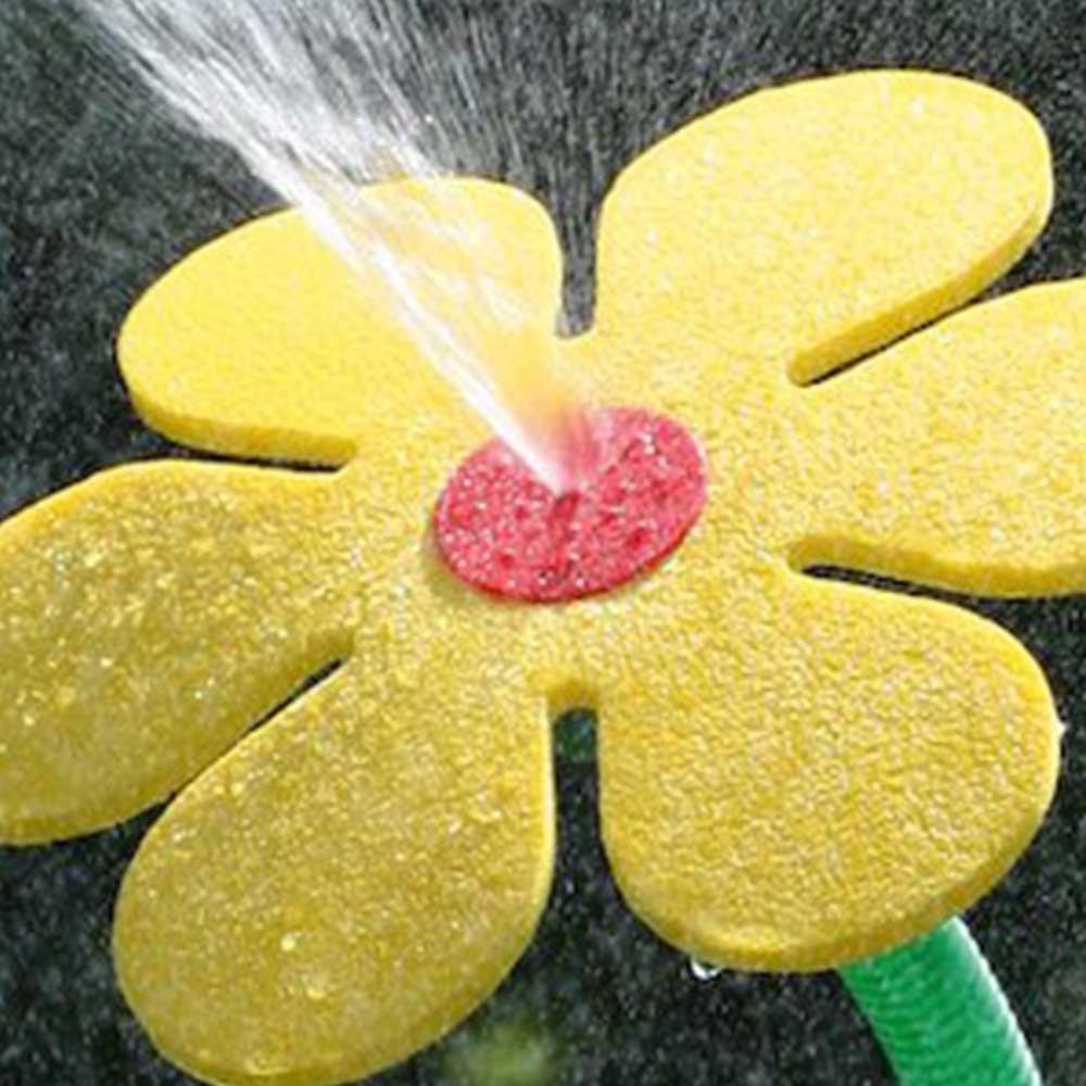 Dancing Daisy Yellow Garden Water Feature Sprinkler Summer Fun