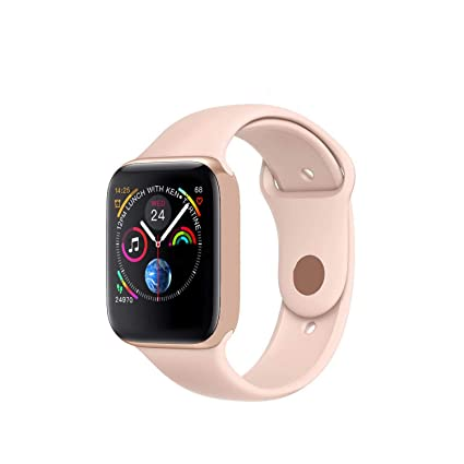 Smart Watch Men Heart Rate Smart Watch for Apple iOS,Iwo 8 Pink