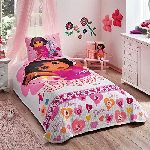 TAC Dora Adorable Single/Twin 100% Cotton Bedding Bedspread/Coverlet Set 3Pc